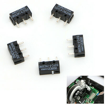 5 Pcs D2FC-F-7N 20M Micro Switch For Mouse Replacement Substitute Tested