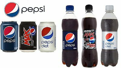 Pepsi & Pepsi Max Soft Drinks Cans 330ml, Bottles 500ml,2 Litre*Wholesale Price*