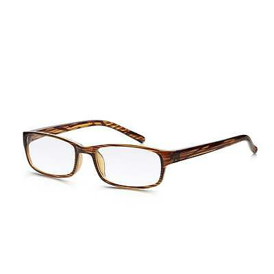 Read Optics Mens and Womens Brown Wood Grain Full Frame Rectangle Reading Glass