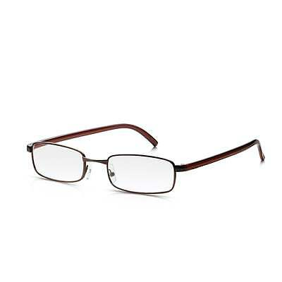 4e46c00dd2 Read Optics Mens and Womens Bronze Full Frame Rectangle Reading Glass