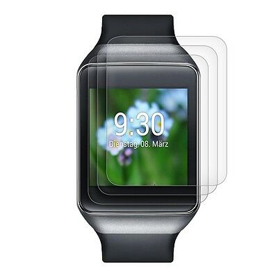 3X kwmobile SCREEN PROTECTOR FOR LG G WATCH CRYSTAL CLEAR DISPLAY PROTECTION