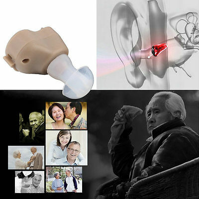 New Small In-Ear Voice Sound Amplifier Adjustable Tone Mini Hearing Ear Aid HX