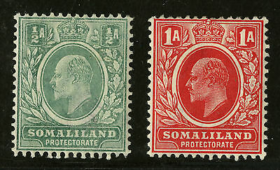 Somaliland Protectorate   1909 Scott # 49-50   Mint Very Lightly Hinged Set