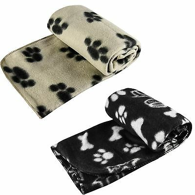 Soft Large Fleece Pet Blanket Dog Theme Print Design Small Cat Animal Home Car