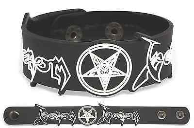 VENOM Rubber Bracelet Wristband Black Metal Welcome to hell At War with Satan