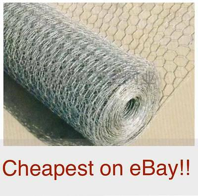 Wire Netting Chicken Rabbit Mesh Fencing 600 900 1200 25m 50m Galvanised Garden