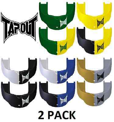 2 Pack Tapout Junior Youth Mouthguard | Boil and Bite | MMA Rugby Hockey Soccer
