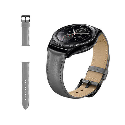 New Genuine Samsung Gear S2 Replacement Classic Leather Wristband Strap - Grey