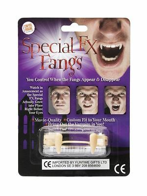 Special FX Fangs Retractable Custom Fit Vampire Halloween Party Fancy Dress