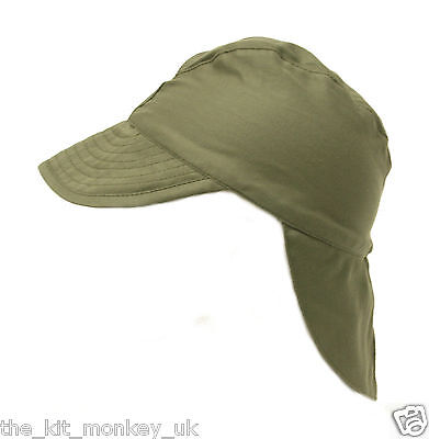 French Army / Foreign Legion Combat Warm Weather Hat Green Satin peaked Cap