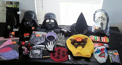 Wholesale lot of 67 Miscellaneous Halloween Costume accessories ETC!
