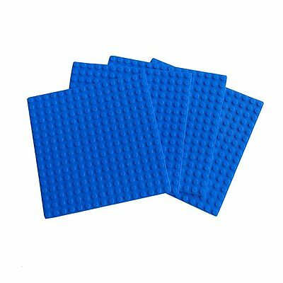 x4 NEW for Lego Blue Base plate Base board figure Brick Building 16 x 16 Dots