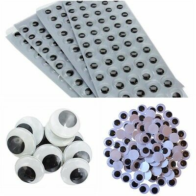 GOOGLY WOBBLY EYES  10MM 15MM  20MM  40MM 50MM Self Adhesive Art Craft Crafts
