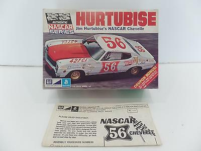 "MPC Jim Hurtubise's 56 NASCAR Chevelle Model Kit""Box&Instructions Only""Vtg Lot 2"