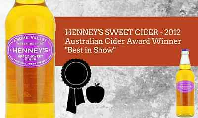 Henneys Cider - 2012 Australian Cider Winner - Best In Show