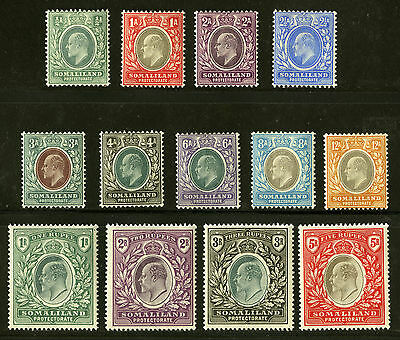 Somaliland Protectorate   1904  Scott # 27-39   Mint Very Lightly Hinged Set