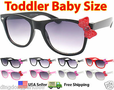 Cute Butterfly Bow Girls Kids Toddler Color Frame Wayfarer Sunglasses Shades
