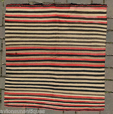 Navajo Striped Rug 37 x 35 inches