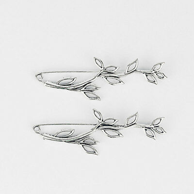 4 Large Silver Tone Leaf Durable Strong Metal Kilt Scarf Brooch Safety Pin 92mm