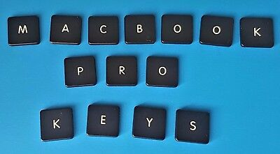"Apple Macbook Pro:13"" 15"" 17"" INDIVIDUAL Replacement keys buttons TYPE (B) CLIP"