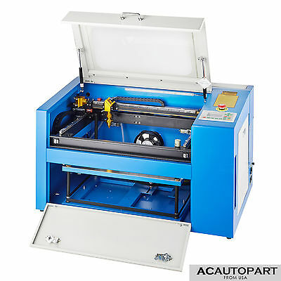 50W CO2 Laser Engraving Machine Engraver Cutter Auxiliary Rotary Device USB Port