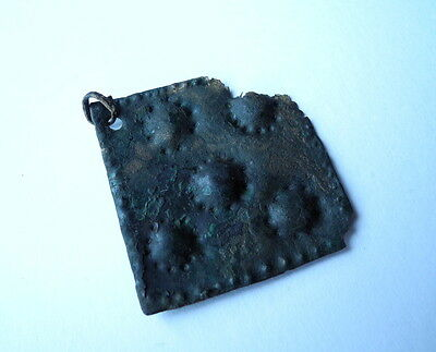Ancient Viking Bronze Pendant Genuine decoration