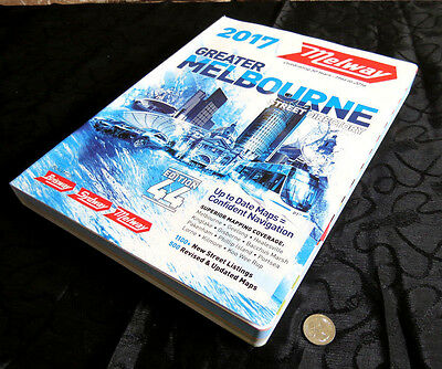 MELWAY 2017 Edition 44 Melbourne Victoria Street Directory SENT BY EXPRESS POST