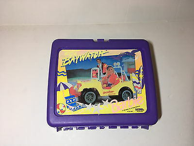 Barbie Baywatch Plastic Lunch Box 1995 Mattel purple