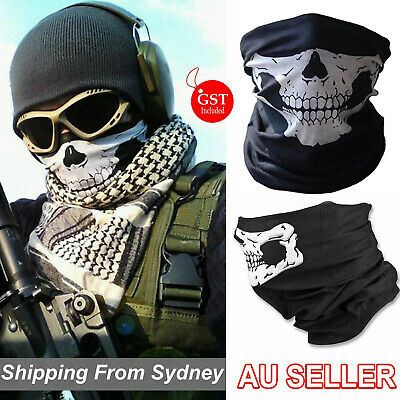 Skeleton Ghost Skull Face Mask Biker Balaclava Call of Duty COD Costume Head Sh