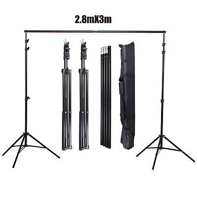 Photography Heavy Duty 2.8x3m Photo Studio Backdrop Background Support Stand Kit