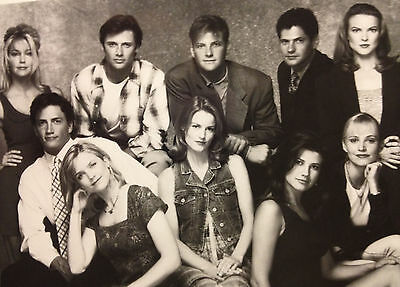 Melrose Place Cast Photo / Fox TV promotional 8 X 10 glossy black & white