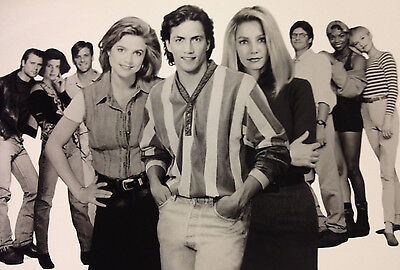 Melrose Place Cast Photo -Billy in center/Fox TV 8 X 10 glossy black & white