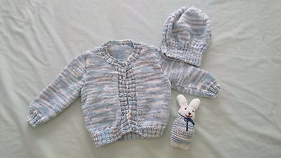 Unisex Boy/Girl Kinted Top Hat Set Size 0-3 months 000