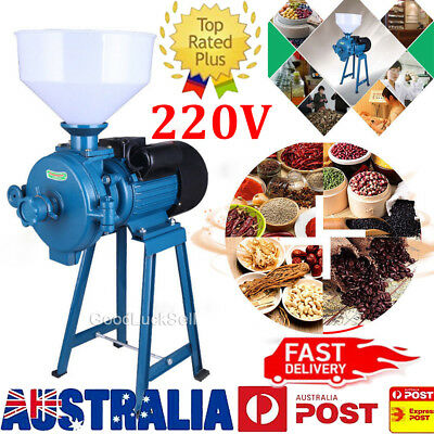Electric Mill Wet Dry Grinder Machine for Corn Grain Rice Wheat Cereal Feed 220V