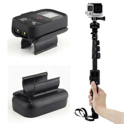 WiFi Remote Control Clip Large Lock Holder Mount for GoPro Hero Monopod Pole
