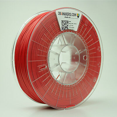 ABS (Red) Filament 1,75 mm 3D4Makers 3D-printing