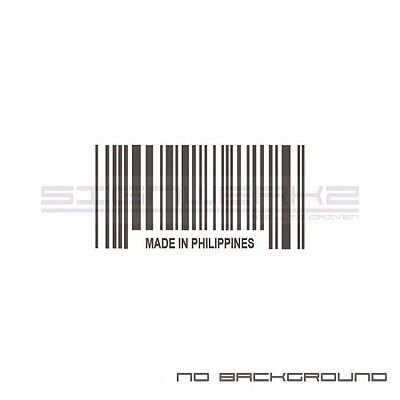 Made In Norway Bar Code Decal Sticker Racing jdm euro Pair