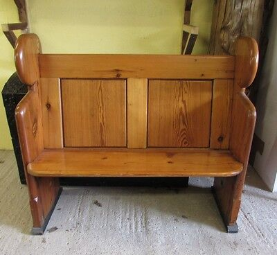 "Reclaimed Antique Pitch Pine Church Pew; 45"" long; £250 (ex. VAT)"