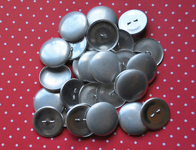 DIY 50 x self cover metal shank back buttons size 45 (28mm)