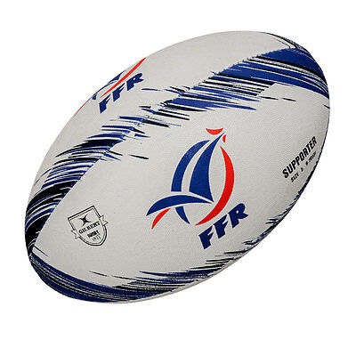 GILBERT france supporter rugby ball [white]
