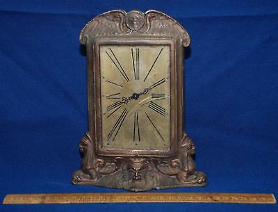 Antique Art Deco Egyptian Revival Solid Bronze Watch Stand Frame