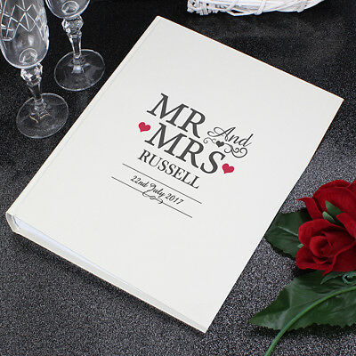 Personalised Mr and & Mrs With Sleeves Beautiful Photo Album Wedding Day Gift