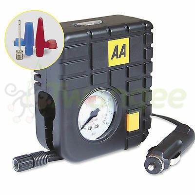 AA Mini 12V Air Compressor For Car Tyre, Bike Tyre, Ball and other inflatables