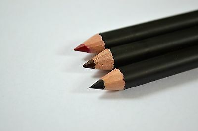 Eye/Lipliner pencil in 3 different colours as pictured, top quality, set of 3