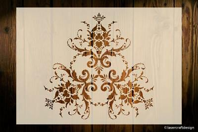 Damask Stencil Art Crafts Decor Walls Shabby Chic Furniture Fabric DIY Reusable