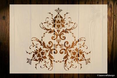 Damask Stencil Various Sizes Reusable Vintage French Shabby Chic Art Crafts DIY