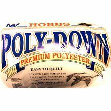 "Hobbs Polydown Polyester 45"" X 60"" (Crib) Wadding / Batting For Quilting"