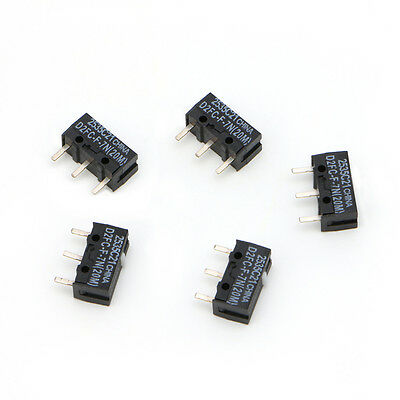 10Pcs Micro Switch D2FC-F-7N 20M For Mouse Replacement Substitute Tested