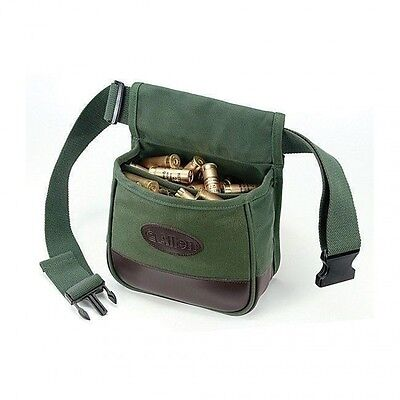 Allen Shooter's Bag Double Compartment Green Heavy Canvas with Belt ALN2102