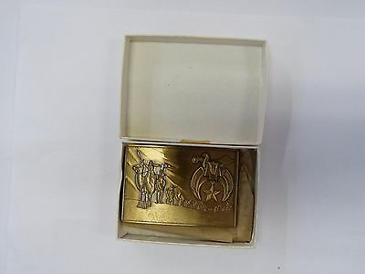 1978 Solid Brass Masonic Belt Buckle Made By Harry Klitzner